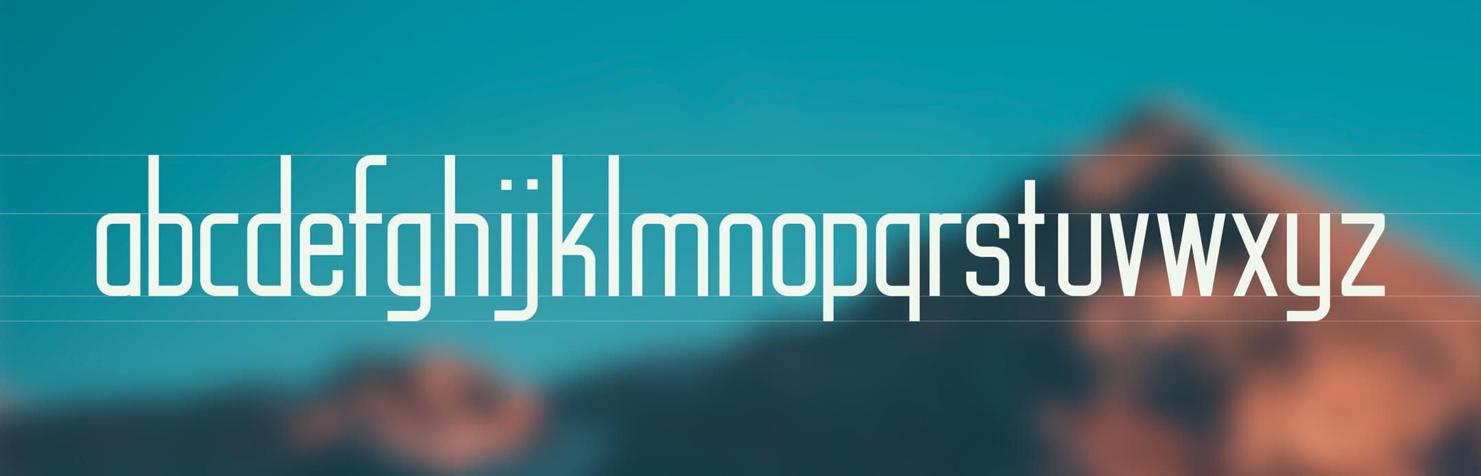 Peak Sans - alfabeto