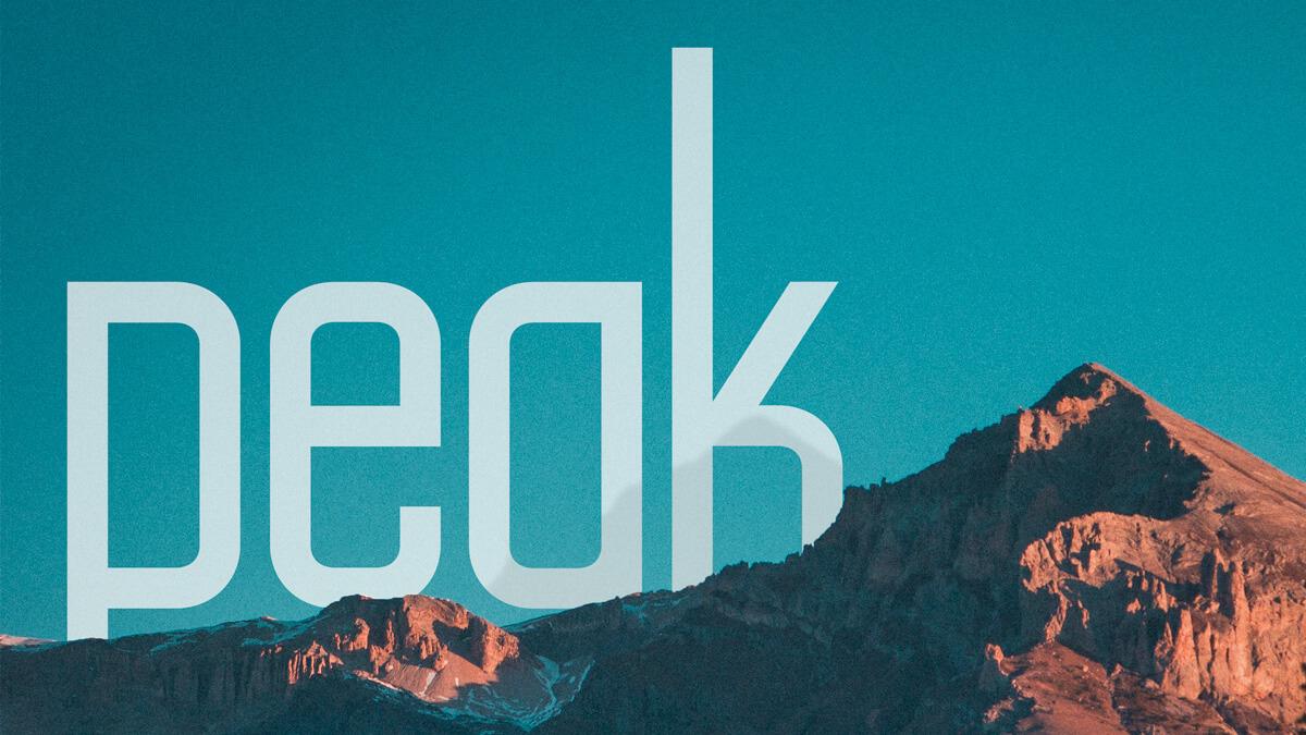 Peak Sans – font design